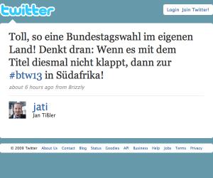Twitter - Jan Tißler- Toll, so eine Bundestagswa ... (20090927)